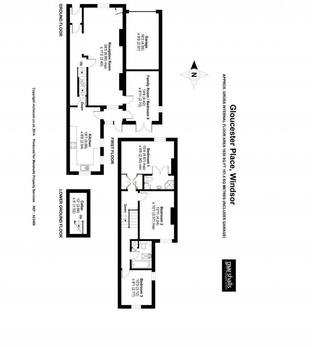 Floorplans For Gloucester Place, Windsor,