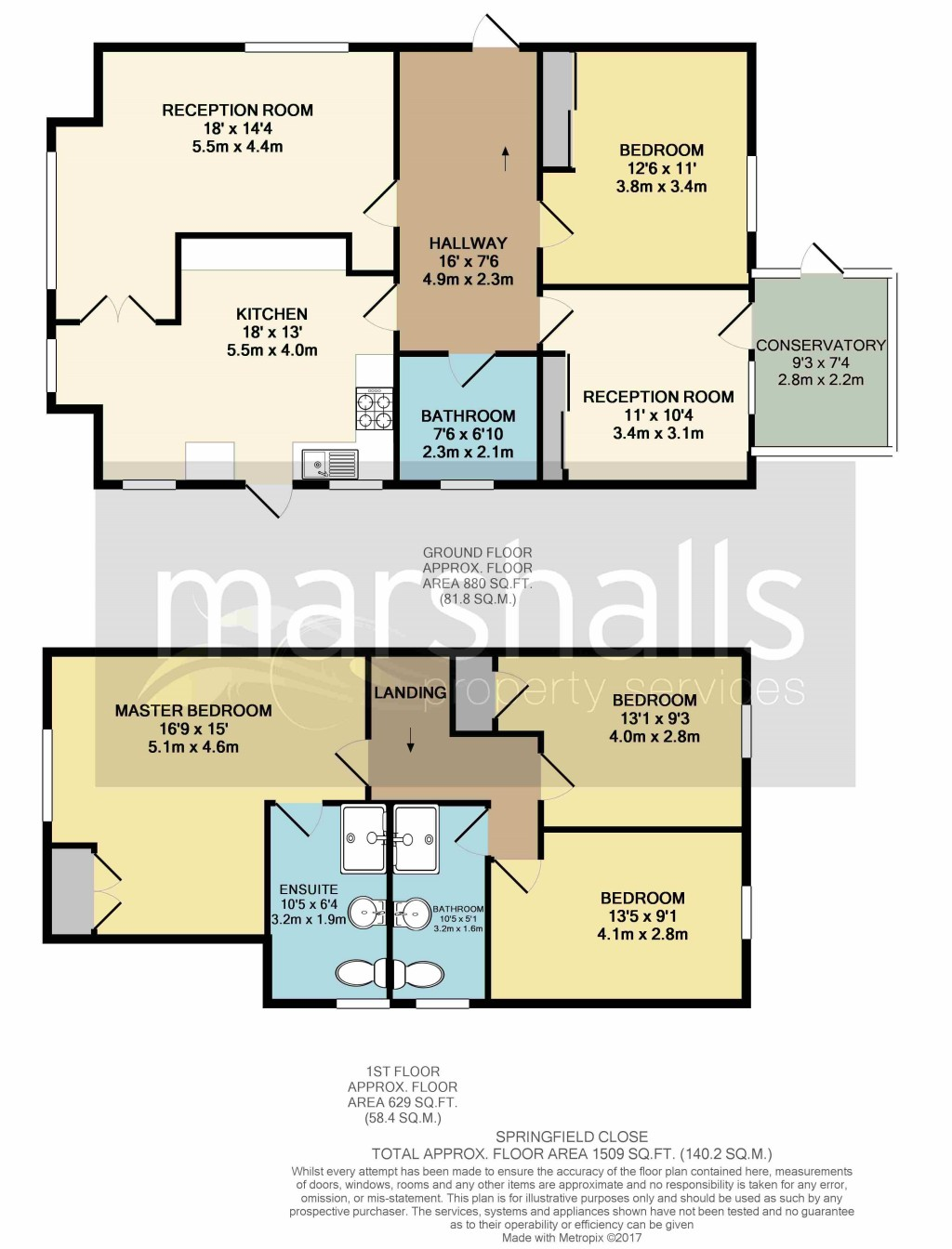 Floorplans For Springfield Close, Windsor